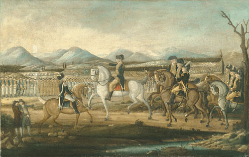 Washington Reviewing the Western Army at Fort Cumberland Maryland After 1795 | Frederick Kemmelmeyer | Oil Painting