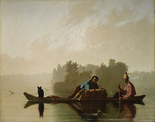 Fur Traders Descending the Missouri 1845 | George Caleb Bingham | Oil Painting