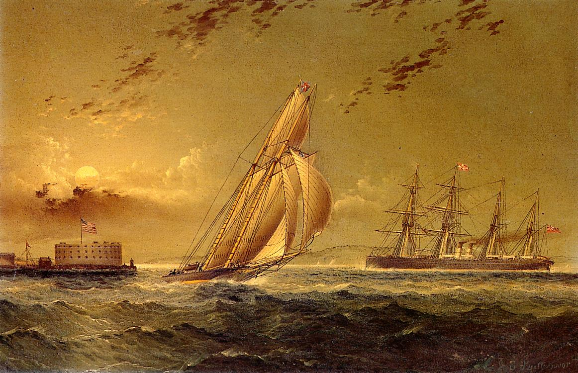 English Steamer off Staten Island | James Buttersworth | Oil Painting