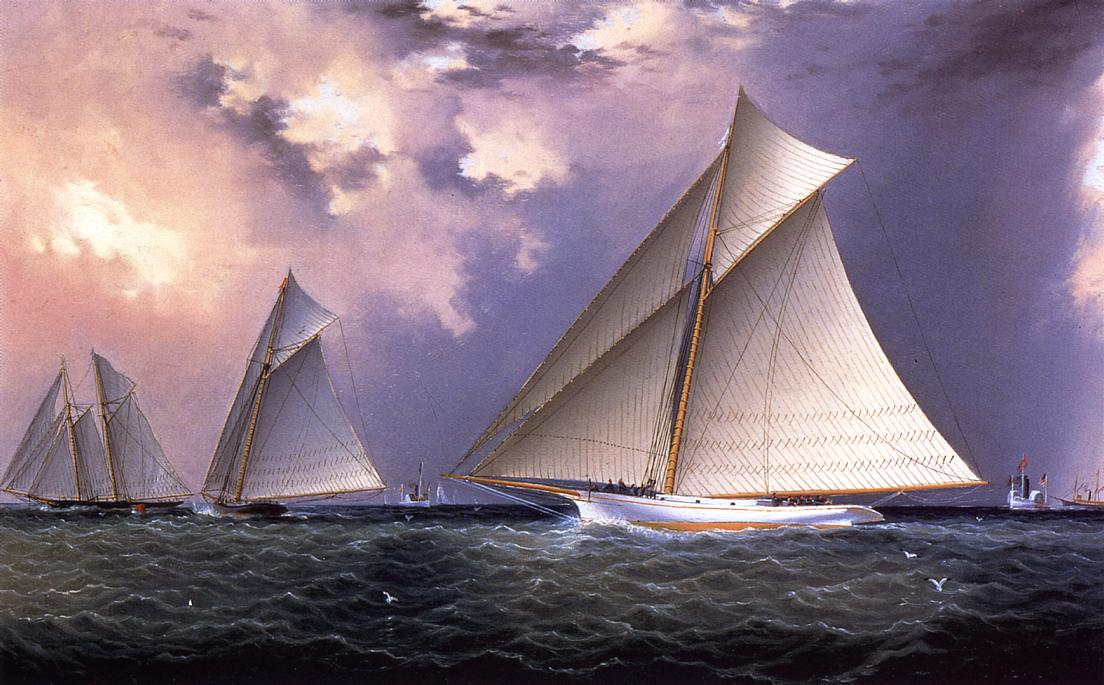 Mischief and Gracie America's Cup Trial Race 1881 1881 | James Buttersworth | Oil Painting