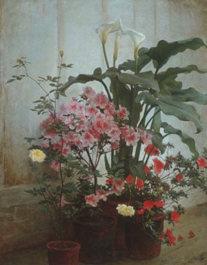 Side of a Greenhouse 1870 | George Cochran Lambdin | Oil Painting