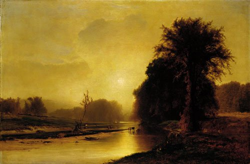 Autumn Meadows 1869 | George Inness | Oil Painting