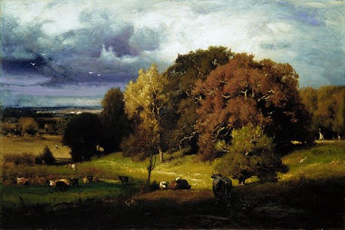 Autumn Oaks 1878 | George Inness | Oil Painting