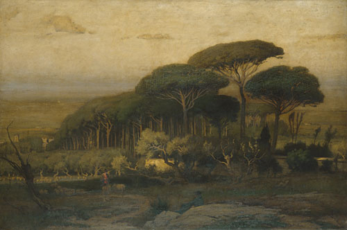 Pine Grove of the Barberini Villa 1876 | George Inness | Oil Painting