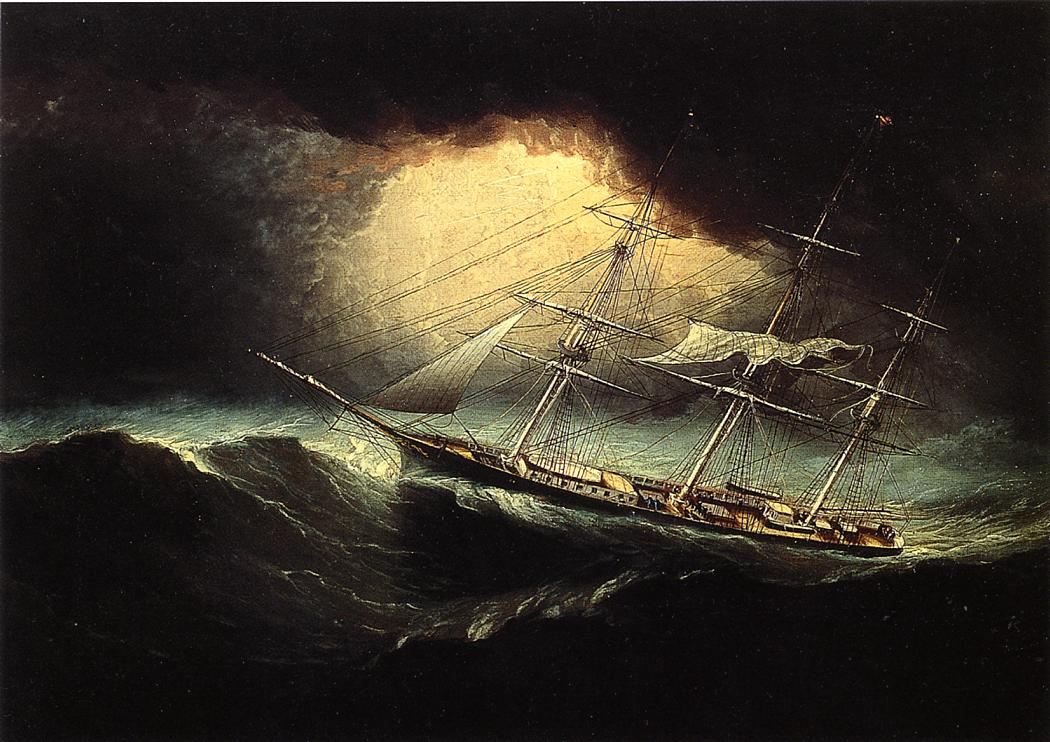 Ship in a Storm | James Buttersworth | Oil Painting