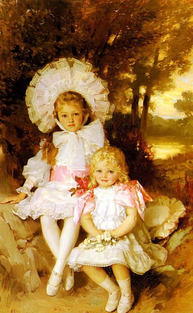 Sisters | James Clark | Oil Painting