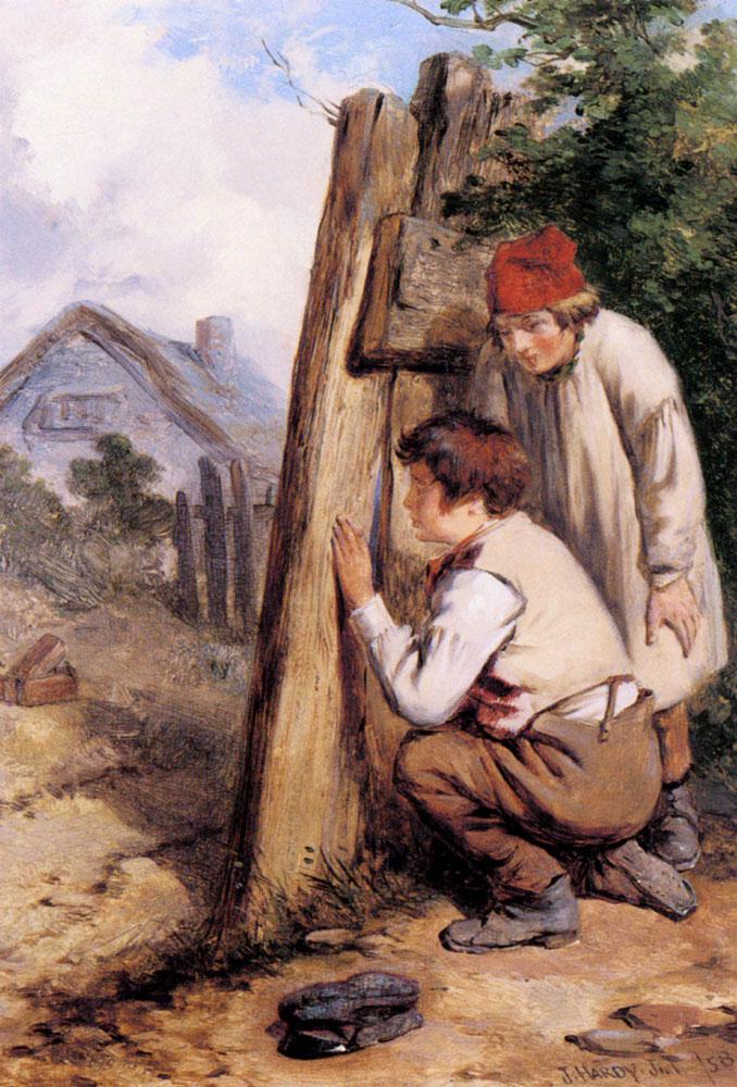 The Bird Catchers | James Jr Hardy | Oil Painting