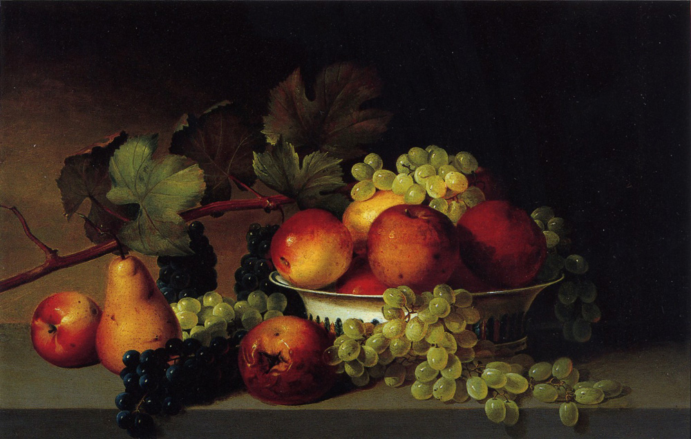 Still Life Apples Grapes Pear 1822-25 | James Peale | Oil Painting