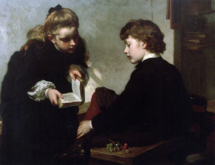 The Schoolmasters Daughter | James Sant | Oil Painting