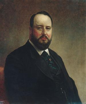 Joseph W Drexel 1877 | Jacob Hart Lazarus | Oil Painting