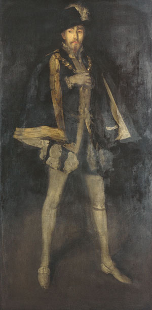 Arrangement in Black No 3 Sir Henry Irving as Philip II of Spain 1877 | James Abbott McNeill Whistler | Oil Painting