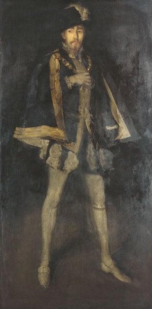 Arrangement in Black No 3 Sir Henry Irving as Philip II of Spain 1877 | James Abbott McNeill Whistler | Oil Painting