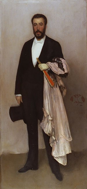 Arrangement in Flesh Colour and Black Portrait of Theodore Duret 1883 | James Abbott McNeill Whistler | Oil Painting