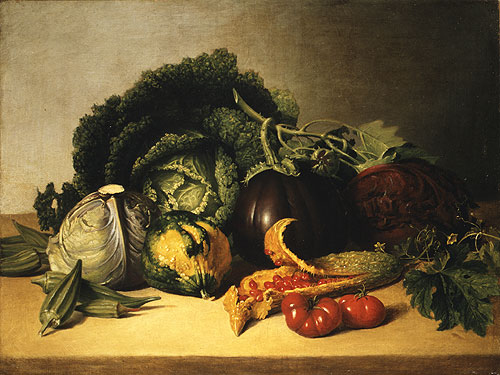 Still Life Balsam Apple and Vegetables 1820 | James Peale | Oil Painting