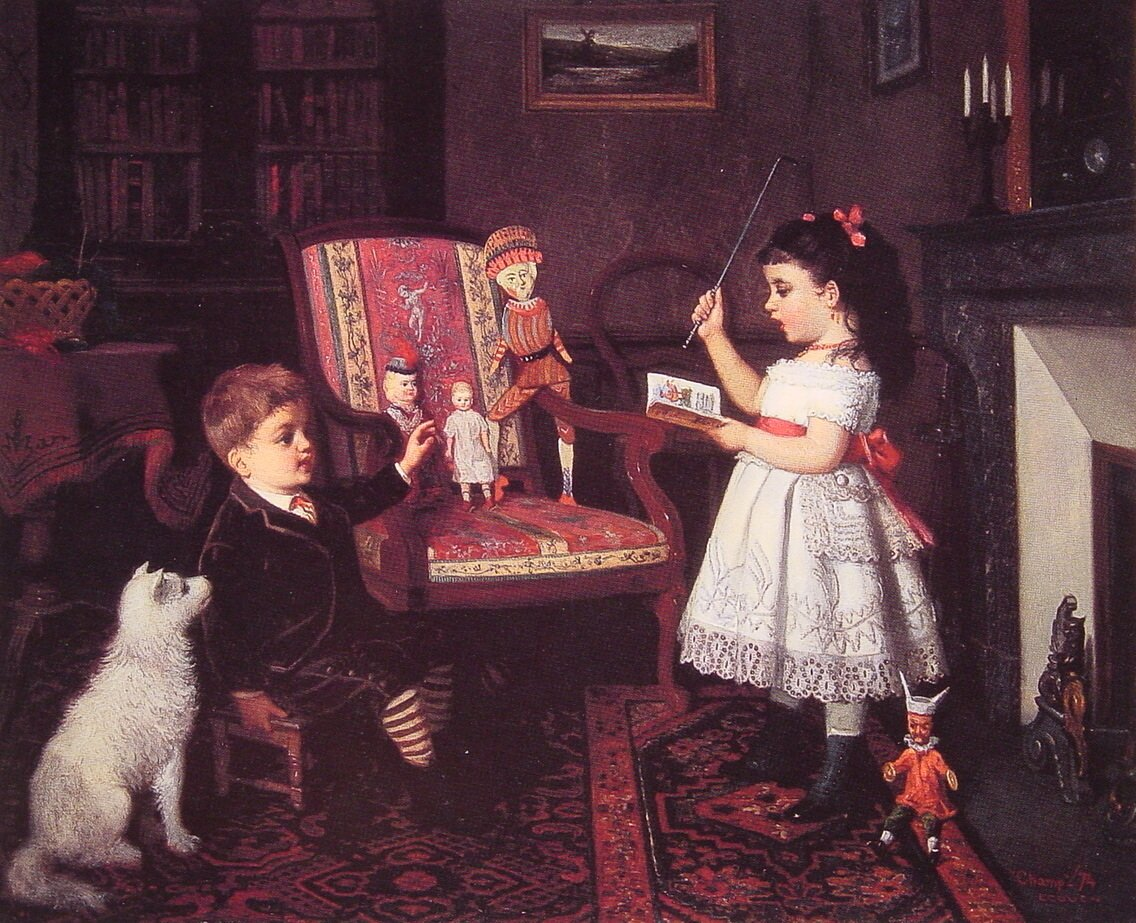 The Lesson | James Wells Champney | Oil Painting