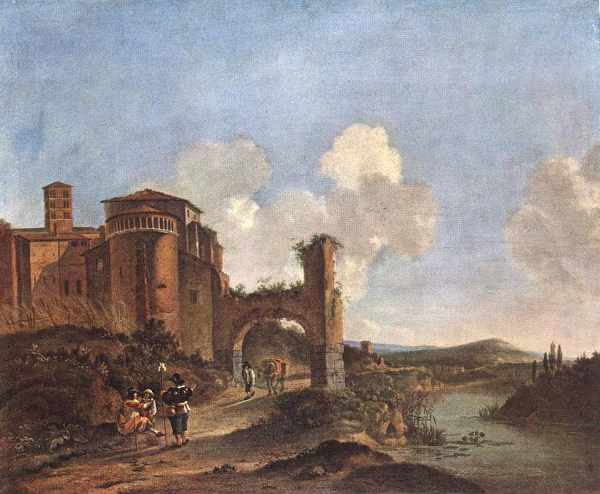 Italian Landscape With SS Giovanni E Paolo In Rome | Jan Asselyn | Oil Painting