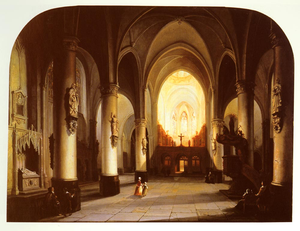 Interior Of A Church | Jan Baptiste Tetar Van Elven | Oil Painting