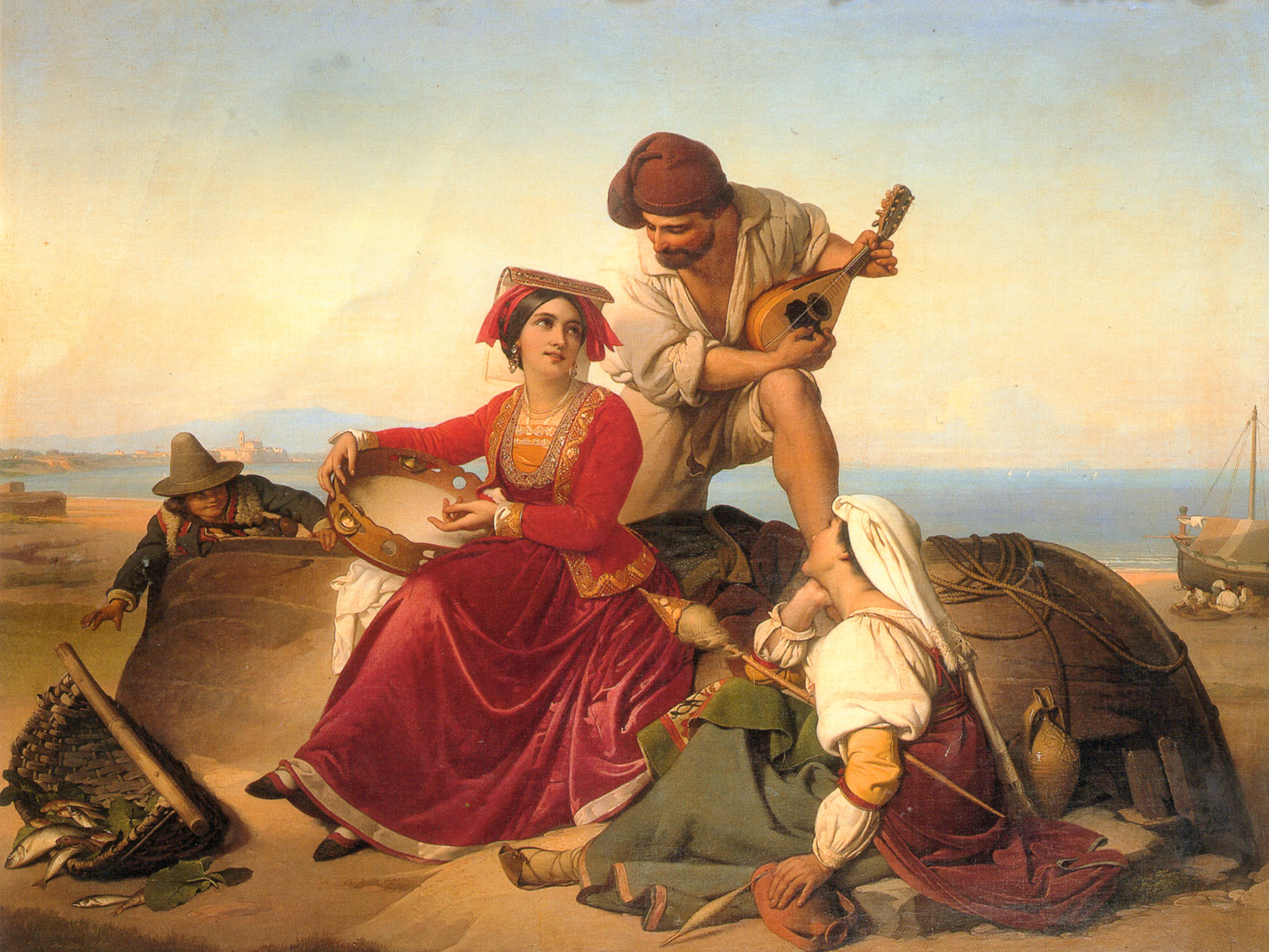 The Musicians | Jan Baptist Lodewyck Maes | Oil Painting