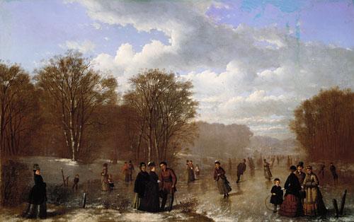 Skating on the Wissahickon 1875 | Johan Mengels Culverhouse | Oil Painting