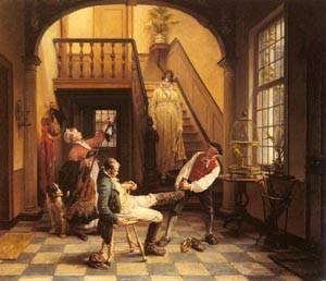 Retour De Chasse | Jan David Col | Oil Painting