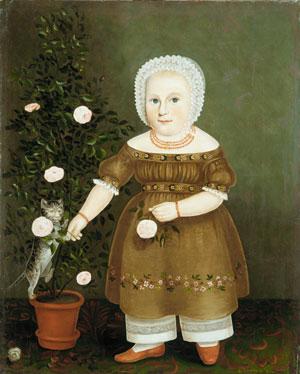 Emma Homan 1844   John Bradley   Oil Painting