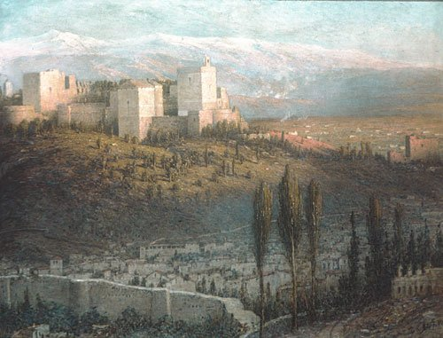 The Alhambra Granada Spain 1901 | John Ferguson Weir | Oil Painting