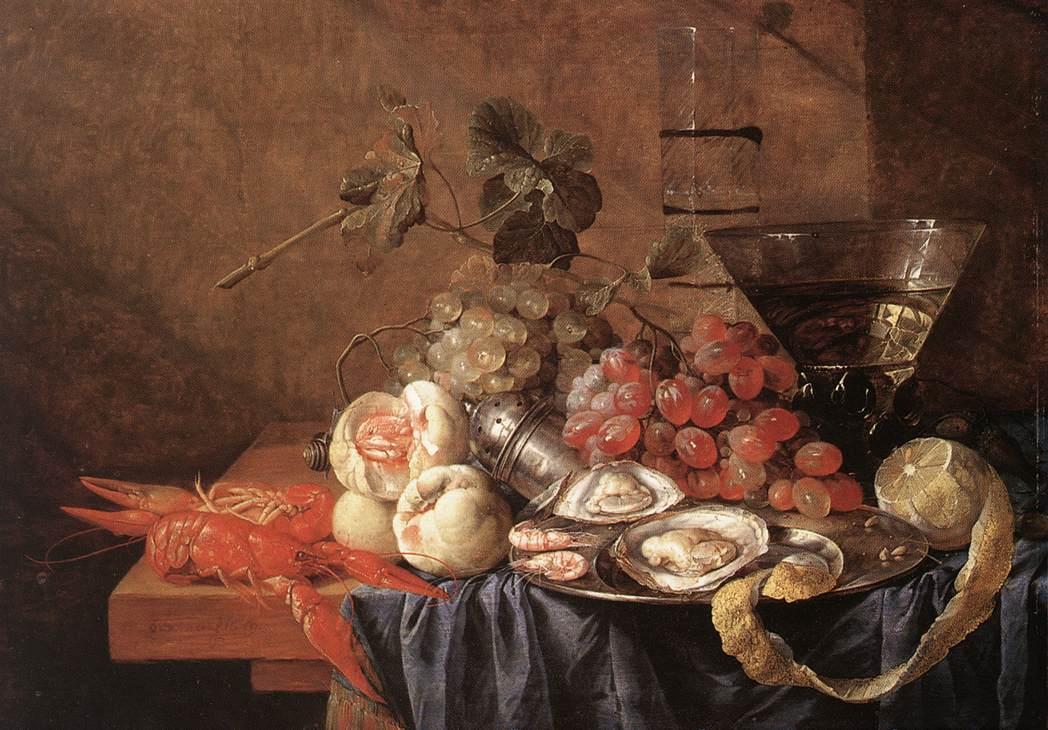 Fruits And Pieces Of Sea | Jan Davidsz De Heem | Oil Painting