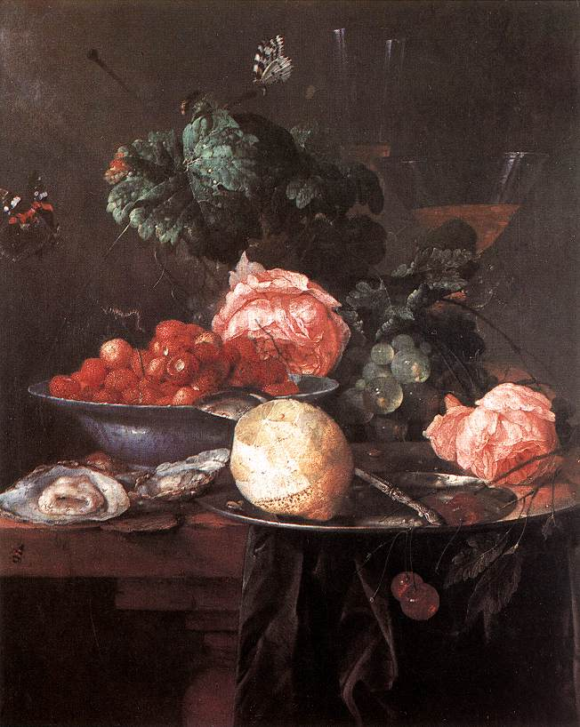Still Life With Fruits 1652 | Jan Davidsz De Heem | Oil Painting