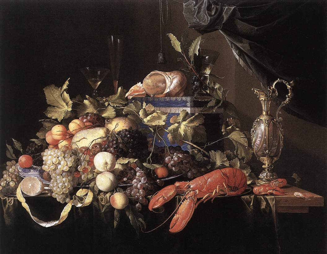 Still Life With Fruit And Lobster 1648-49 | Jan Davidsz De Heem | Oil Painting