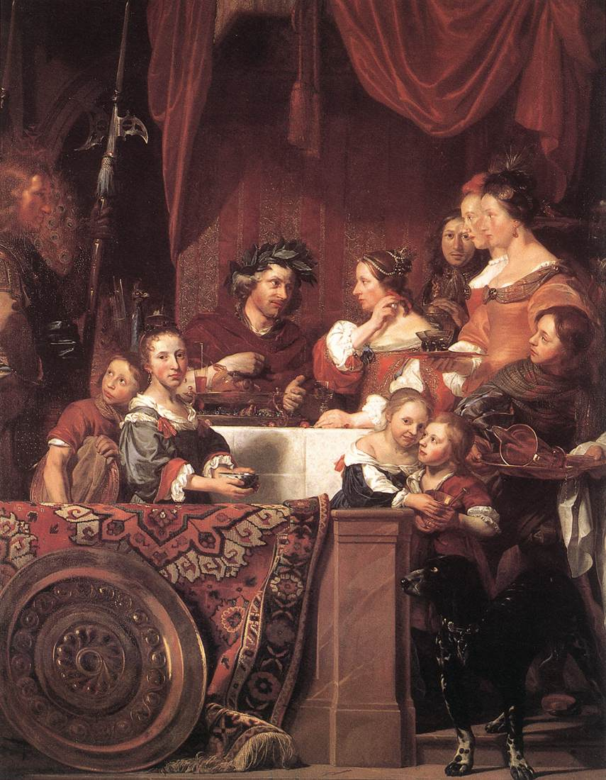 The De Bray Family (The Banquet Of Antony And Cleopatra) 1669 | Jan De Bray | Oil Painting