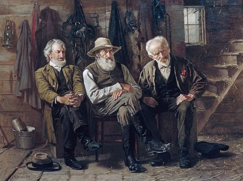 To Decide the Question 1897 | John George Brown | Oil Painting
