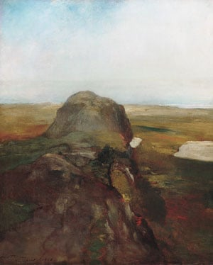 Autumn Study View over Hanging Rock Newport R.I. | John La Farge | Oil Painting