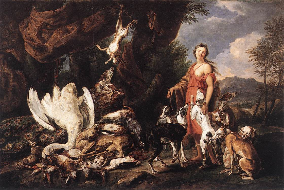 Diana With Her Hunting Dogs Beside Kill | Jan Fyt | Oil Painting