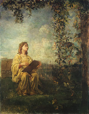 The Muse of Painting 1870 | John La Farge | Oil Painting