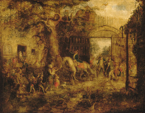The Vigilant Stuyvesant's Wall Street Gate 1863 | John Quidor | Oil Painting