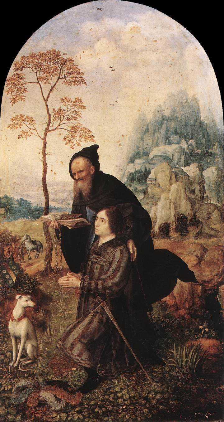 St Anthony With A Donor 1508 | Jan Gossaert | Oil Painting