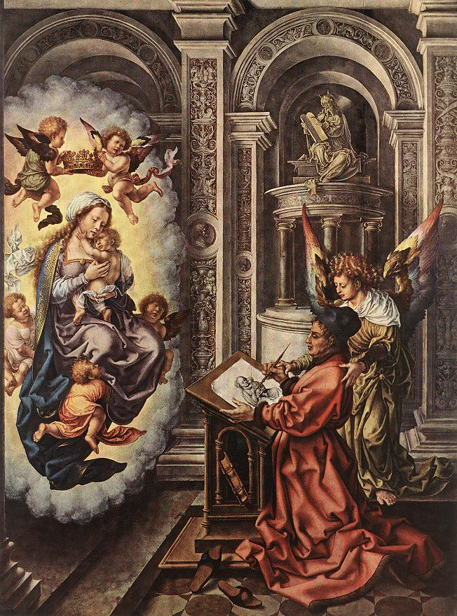 St Luke Painting The Madonna 1520-25 | Jan Gossaert | Oil Painting