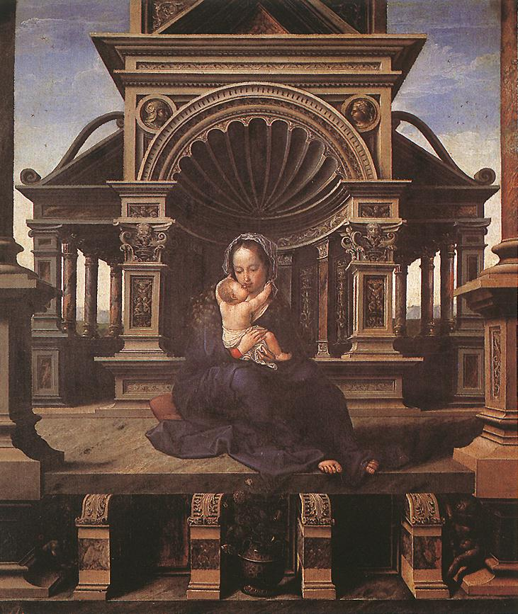 Virgin Of Louvain | Jan Gossaert | Oil Painting