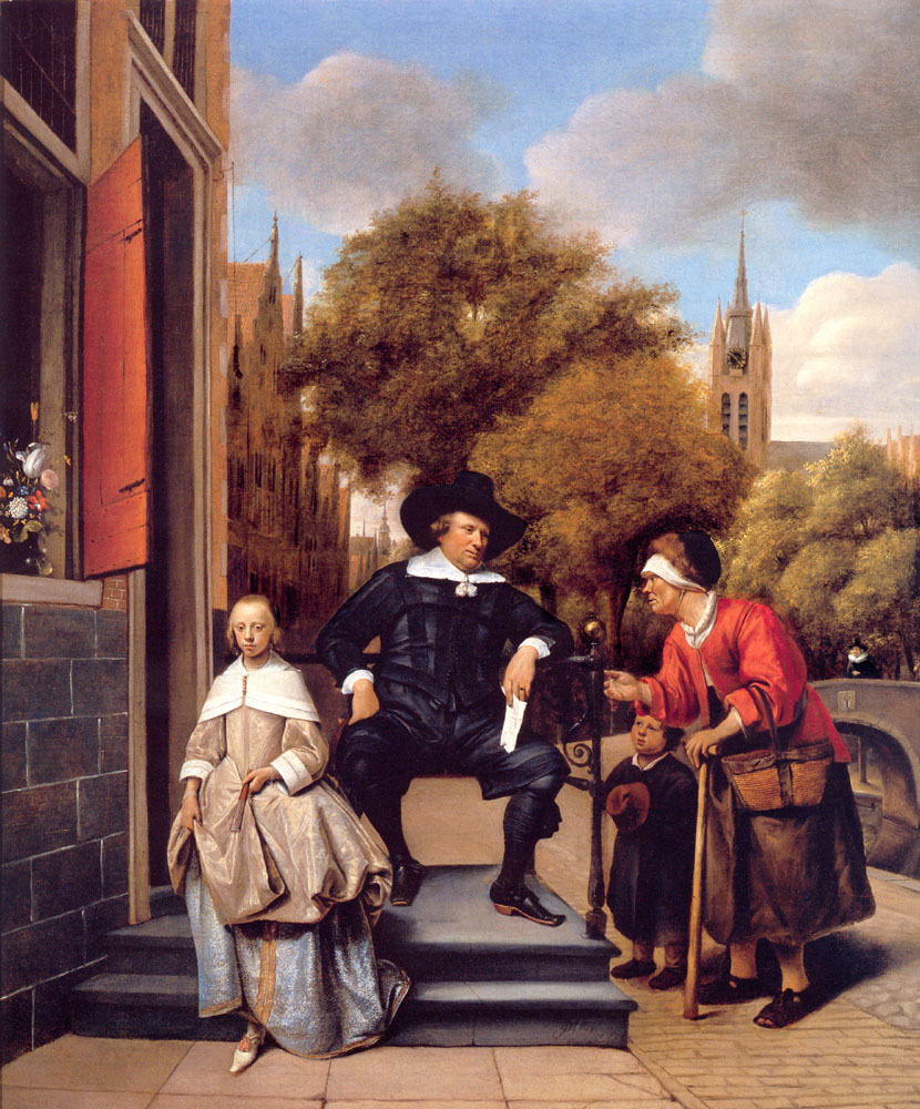 A Burgher of Delft and His Daughter | Jan Havicksz Steen | Oil Painting