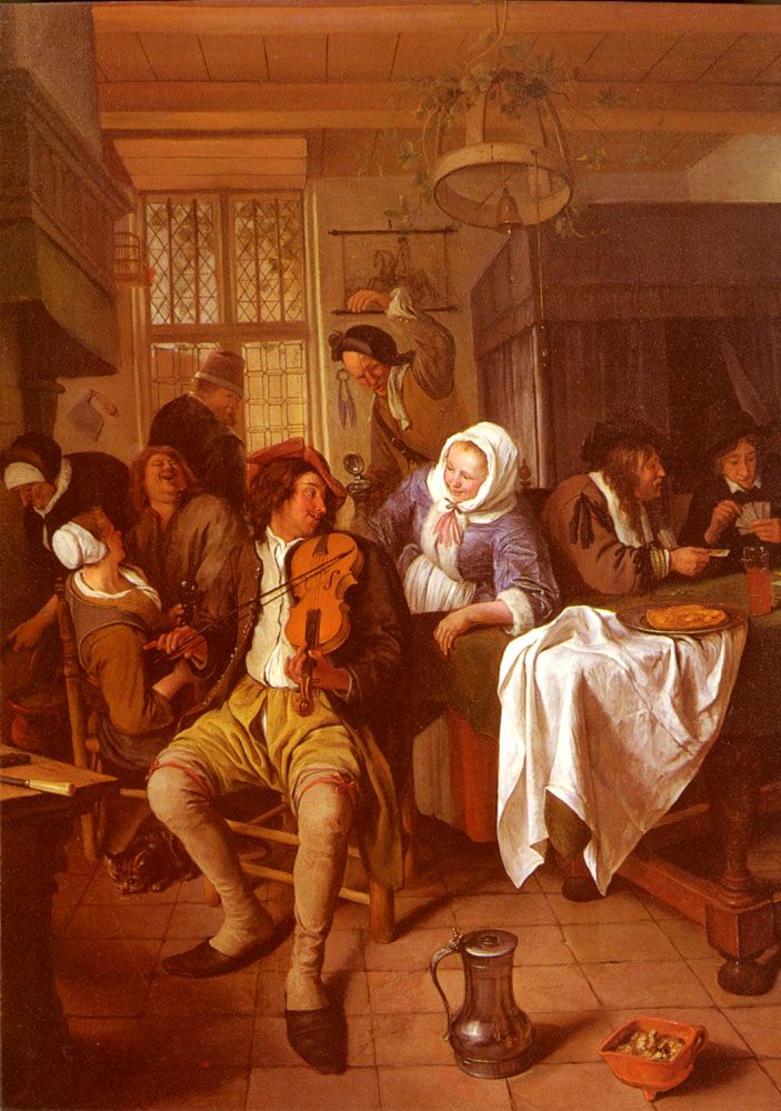 Interior Of A Tavern | Jan Havicksz Steen | Oil Painting