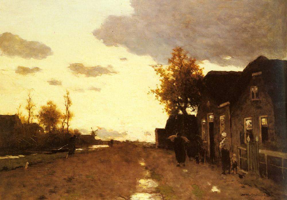 Along the Canal | Jan Hendrik Weissenbruch | Oil Painting