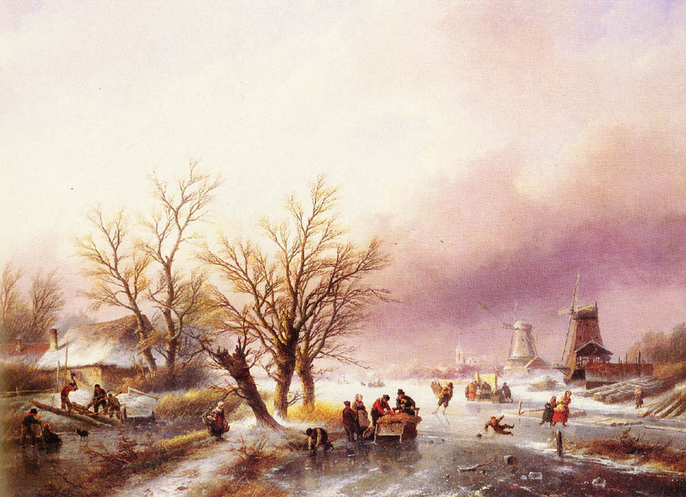 A Winter Landscape | Jan Jacob Coenraad Spohler | Oil Painting