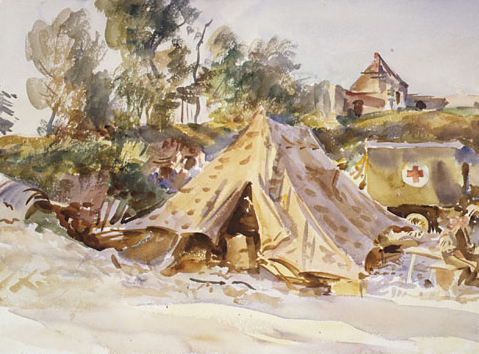 Camp with Ambulance 1918 | John Singer Sargent | Oil Painting
