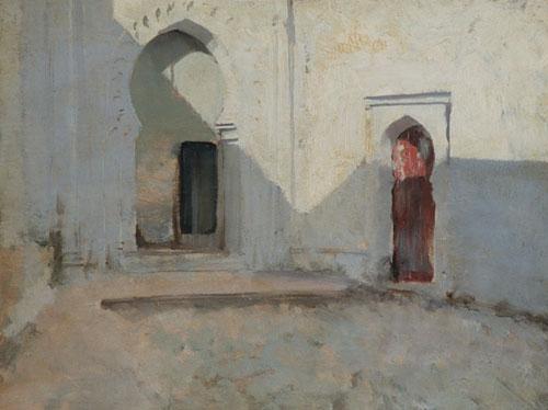 Courtyard Tetuan Morocco | John Singer Sargent | Oil Painting