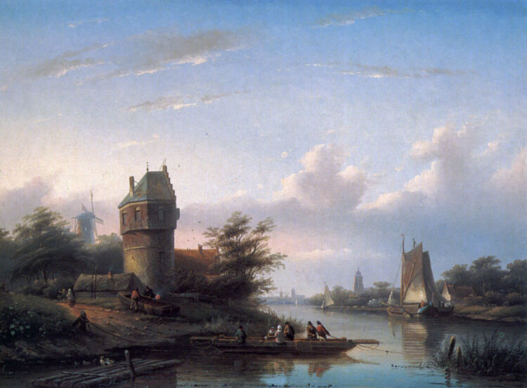 The Ferry | Jan Jacob Coenraad Spohler | Oil Painting