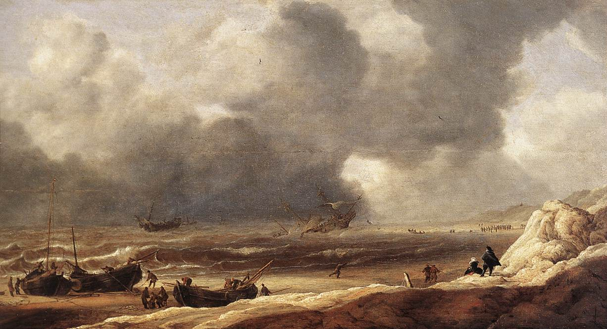 Shipwreck on a Beach 1631 | Jan Porcellis | Oil Painting