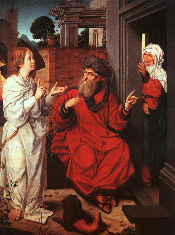 Abraham Sarah And The Angel | Jan Provost | Oil Painting