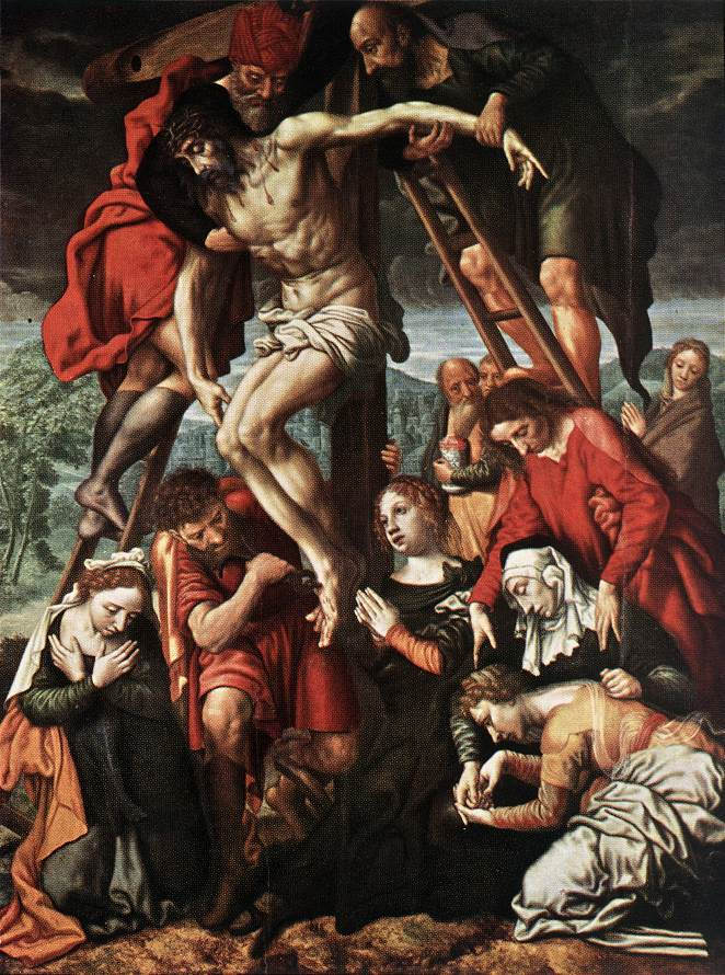 The Descent From The Cross | Jan Sanders Van Hemessen | Oil Painting