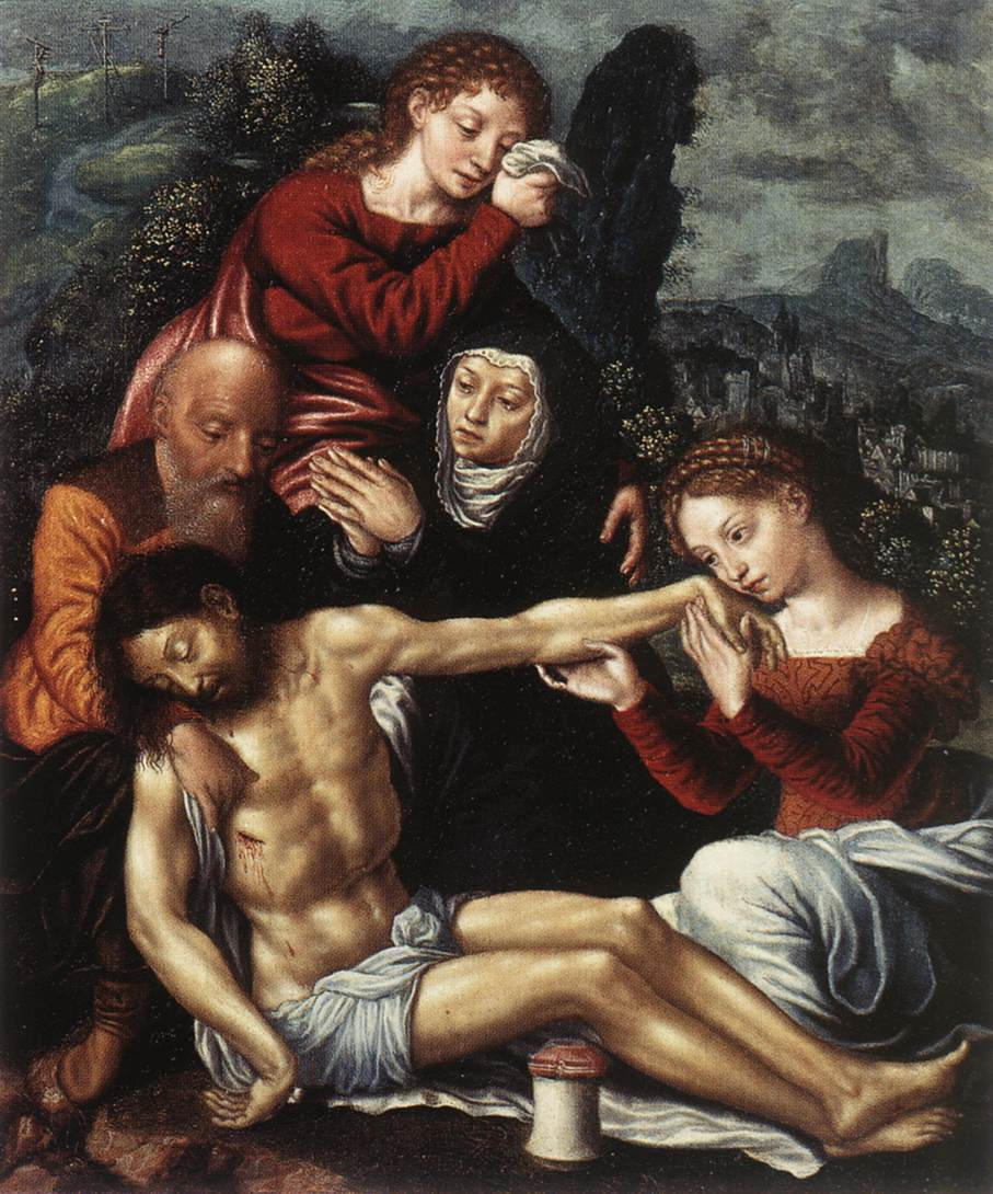 The Lamentation Of Christ | Jan Sanders Van Hemessen | Oil Painting