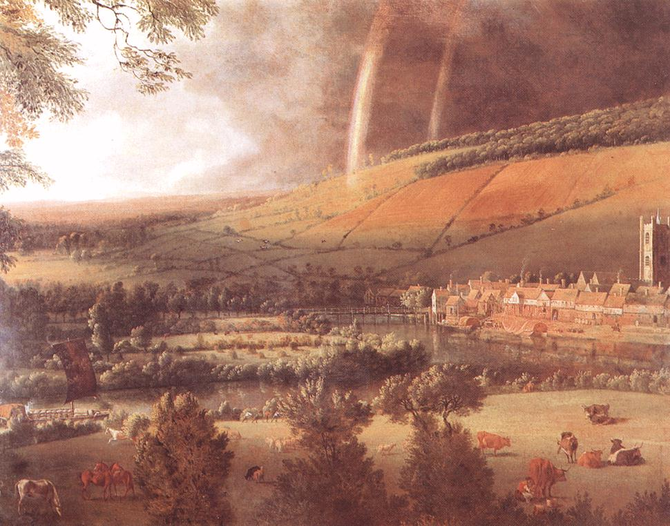 Landscape With Rainbow Henley On Thames 1690 | Jan Siberechts | Oil Painting
